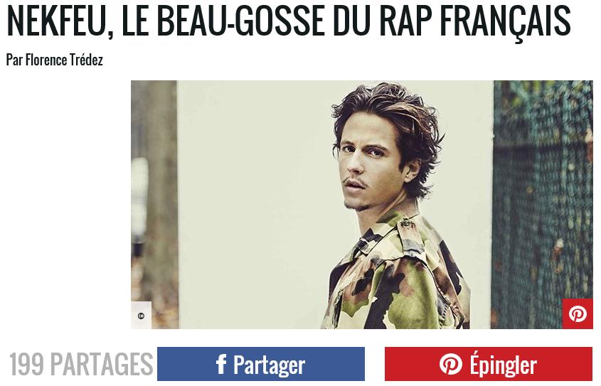 Le beau gosse du rap français